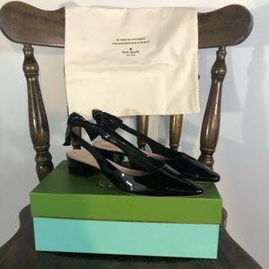 Kate Spade Lucia Black Pointed Toe Heel Pumps 7.5